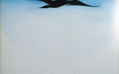 Georgia O'Keeffe, A Black Bird with Snow Covered Red