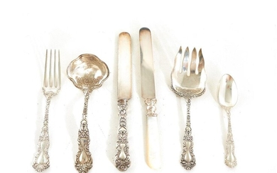 Gorham sterling silver flatware services (165pcs)