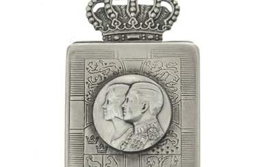 Greece Royal Wedding Sterling Silver Box, King Constantine II & Anne-Marie of Denmark, 1964.