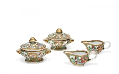 Group of four serving dishes China, second half of 19th Century
