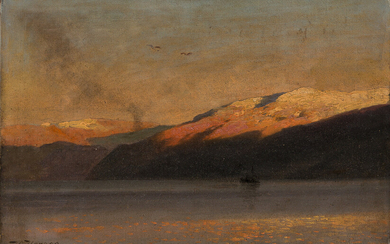 HERMANN HERZOG Evening on Sognefjord Norway