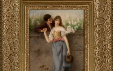 Kpm Porcelain Plaque: Summer