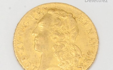LOUIS XVI (1774-1793) - Double gold Louis with nude bust. 1790. Nantes. Diameter : 2,8cm. Gross weight : 15,2g.