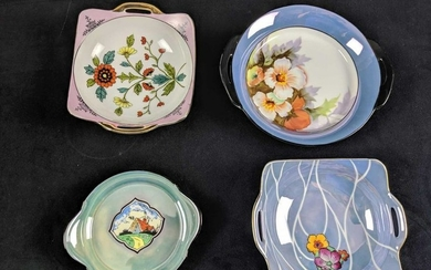 Lot Of Four Hand Painted Japanese Serving Dishes