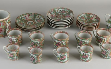 Lot of Chinese / Cantonese Family Rose porcelain