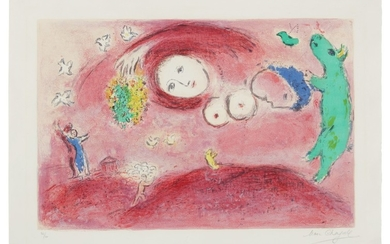 MARC CHAGALL   SPRINGTIME IN THE MEADOW (M. 314; SEE C. BKS. 46)