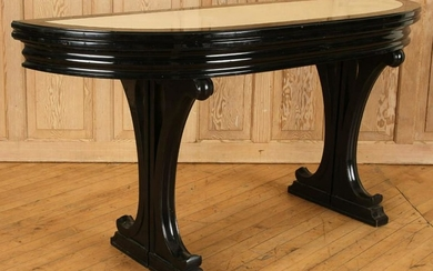 MID CENTURY MODERN CONSOLE DINING TABLE C1950
