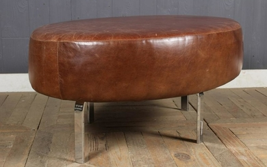 Modern Oval Leather Upholster Tabouret Stool