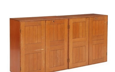 Mogens Koch: A pair of solid oregon pine cabinets. Made by Rud. Rasmussen cabinetmakers. H./W. 76 cm. D. 36 cm. (2)