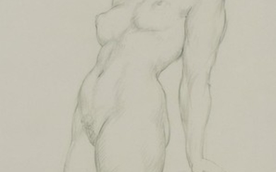 § NORMAN LINDSAY (1879-1969) Standing Nude pencil on paper