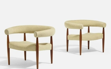 Nanna and Jorgen Ditzel, Ring lounge chairs, pair