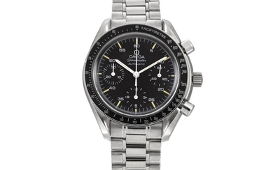 OMEGA   SPEEDMASTER REDUCED AUTOMATIC, REF 3510-50.00 STAINLESS STEEL CHRONOGRAPH WRISTWATCH WITH BRACELET CIRCA 1997