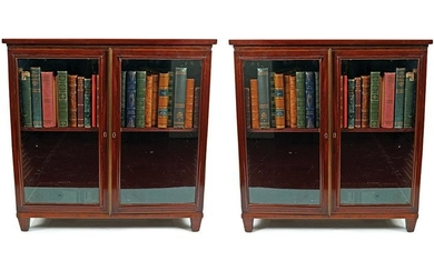 PAIR OF REGENCY PERIOD MAHOGANY LOW BOOKCASES
