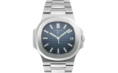 PATEK PHILIPPE | NAUTILUS, REF 5711 STAINLESS STEEL WRISTWATCH WITH DATE AND BRACELET CIRCA 2013