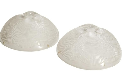 """Pair of Lalique """"Coquilles"""" Plafonnier Shades"""