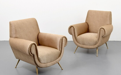 Pair of Lounge Chairs, Manner of Paolo Buffa