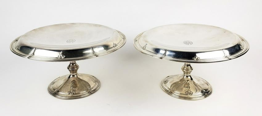 Pair of Sherve & Co. Sterling Silver Tazzas