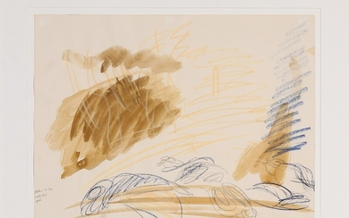 Per Kirkeby: Untitled. Signed PK-80. Mixed media on paper. Sheet size 42×55 cm.