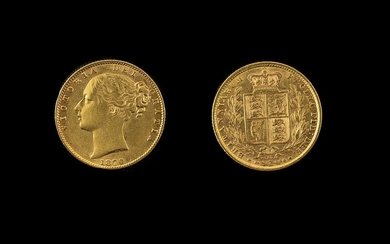 Queen Victoria 22ct Gold Full Sovereign London Mint. Date 1...