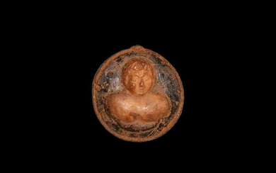Roman Glass Cameo with Bust