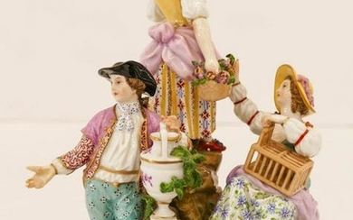 Royal Berlin KPM Fine Porcelain Figure Group 8.5''x6''.
