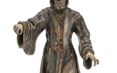 SCULPTURE OF ST. FRANCIS OF PAOLA - LATE 16TH CENTURY