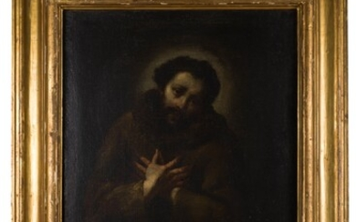 Saint Francis in ecstasy after stigmatization, cerchia di Aniello Falcone