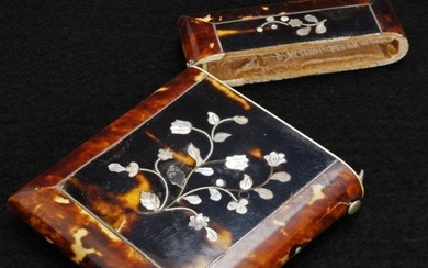 Shell Mother of Pearl Victorian Calling Card Case