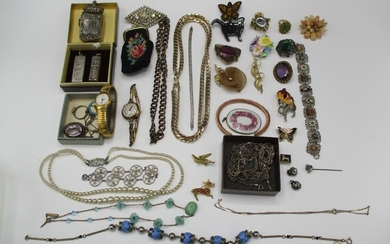 Silver enamelled and other jewellery to include two ingot pe...