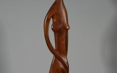 TOM WILLIAMS Carved Nude Sculpture