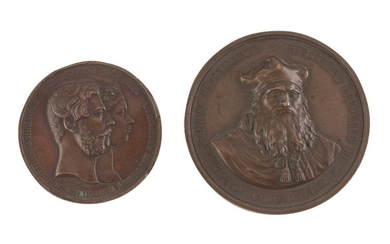TWO BRONZE MEDALS 19TH CENTURY