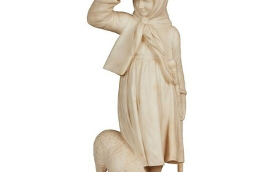 TWO ITALIAN CARVED ALABASTER FIGURE GROUPS LATE 19TH