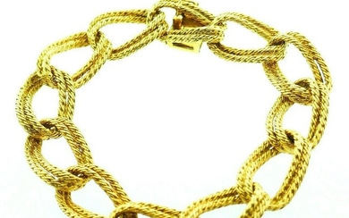 Vintage 1970s 18k Yellow Gold French Braided Link Chain