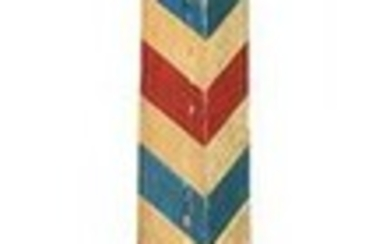 Vintage Paint Decorated Barber Pole