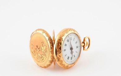 Yellow gold collar watch (750)