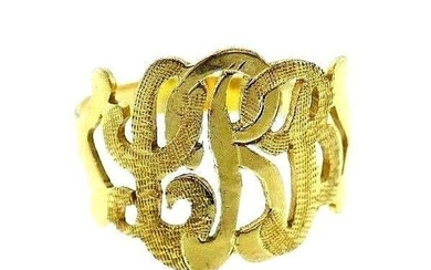 14k Yellow Gold Victorian Filigree Ring