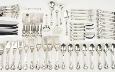 153 Pcs. Gorham Chantilly Sterling Silver Flatware