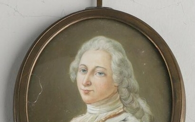 18th century miniature painting.&#160 Oval.&#160