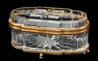 19th C. French Baccarat Crystal and Bronze Mounted