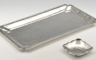 2 Sterling Silver Hand Hammered Trays, Peru, 925.