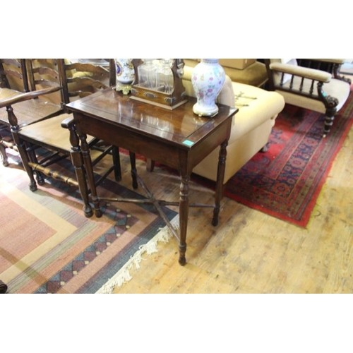 20th Century Hardwood Occasional Table with a Drawer on Turn...
