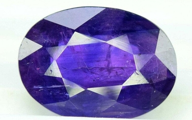 3.36 cts Oval Cut Natural Blue Sapphire Gemstone From