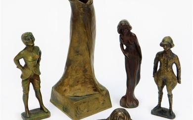 5PC Viennese Figural Bronze Woman Group