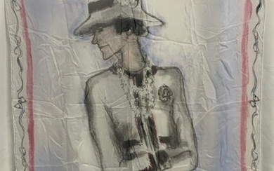 RARE CHANEL SCARF SIGNED KARL LAGERFELD 2005