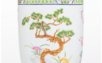 A Chinese Enameled Porcelain Vase (early 20th century)