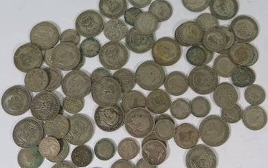 A Collection of English Silver Coins, .500 239g, .925 12g