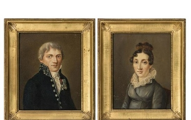 A French Pair of Portraits, Early 19th Century