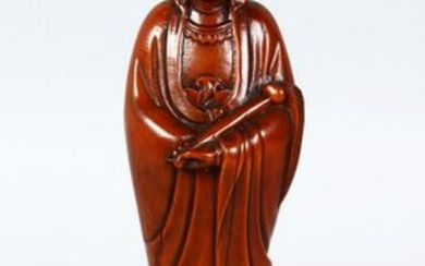 A GOOD 19TH / 20TH CENTURY CHINESE CARVED BOXWOOD