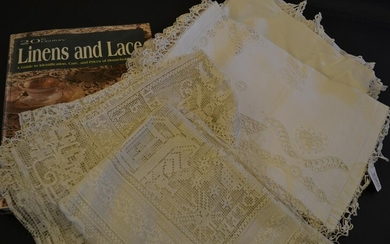A Good Selection of Fine Embroidered and Lace Edged Household...