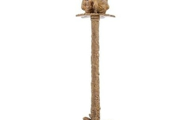A Neoclassical Style Gilt Metal Candlestick